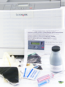 lexmark C543dn dedicated starter kit