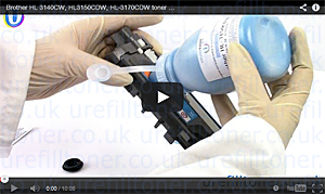 link to HL 3140CW toner refill video